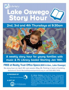 PJ Library Lake Oswego Story Hour @ Realty Trust Office Space
